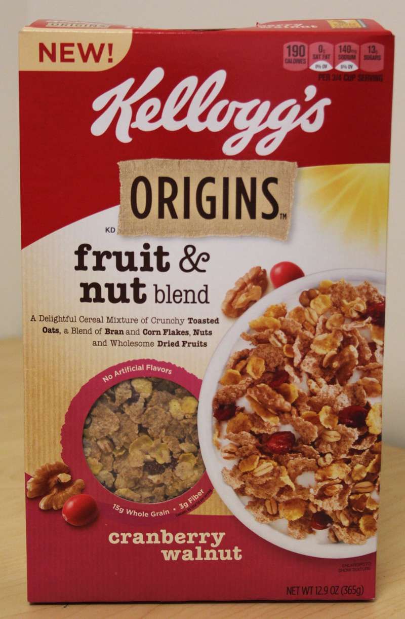 Review: Kellogg's Origins Fruit & Nut Blend Cereal