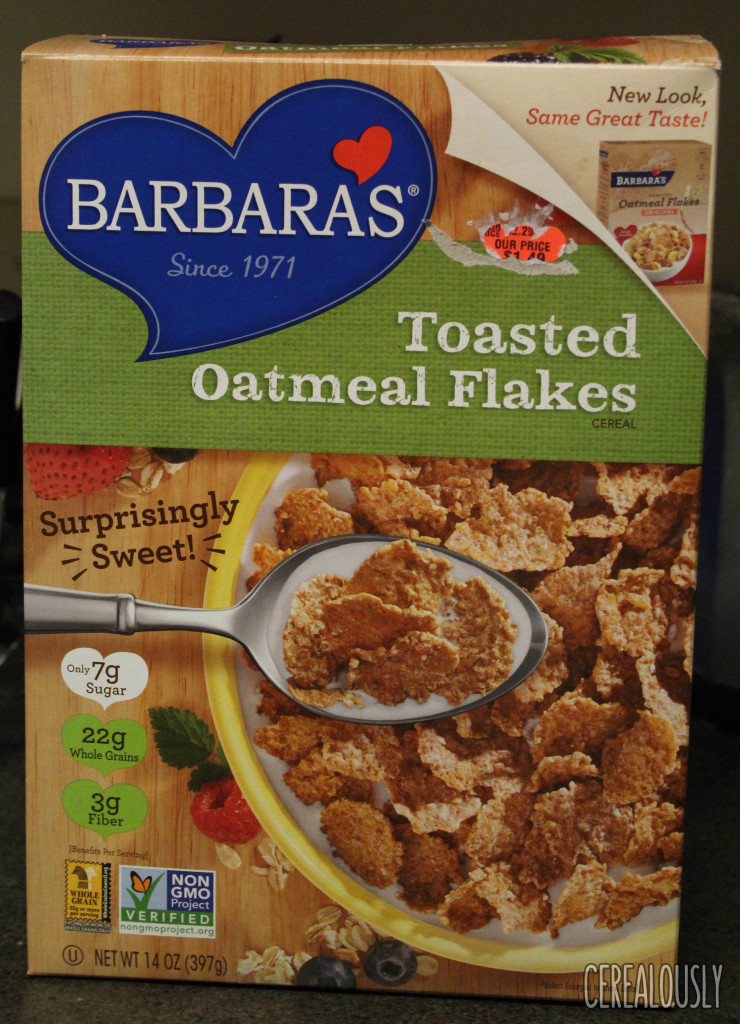 Review: Barbara's Toasted Oatmeal Flakes Cereal