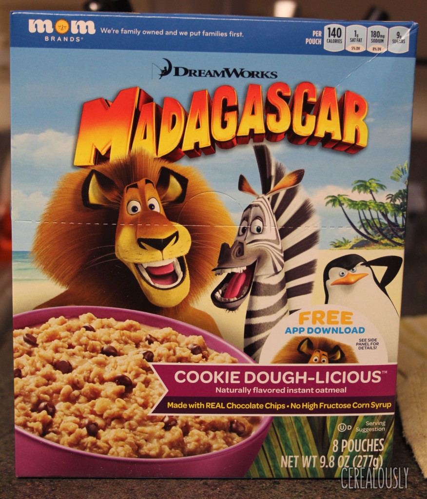 Review: Madagascar Cookie Dough-licious Oatmeal From MOM