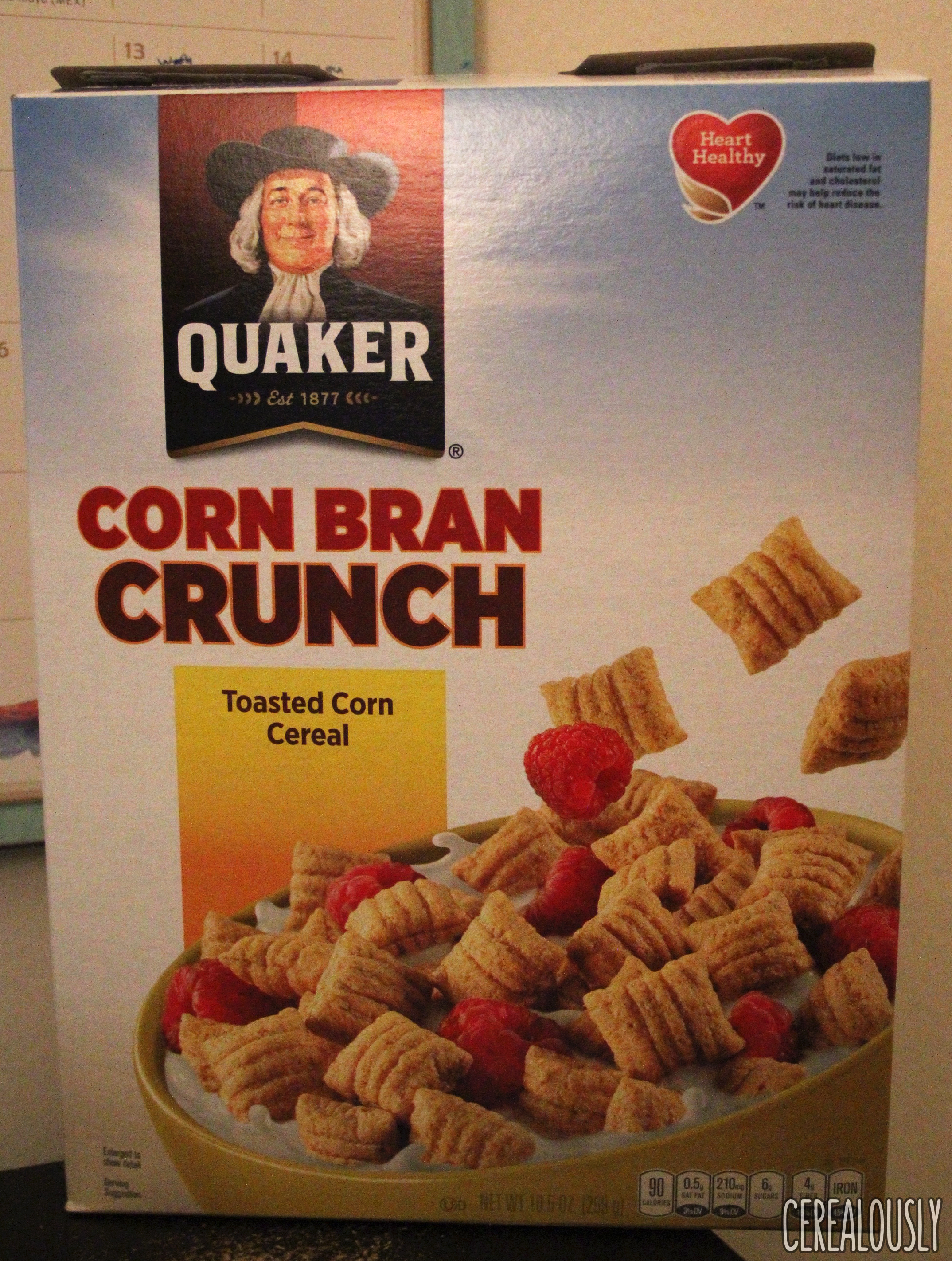 Review: Quaker Corn Bran Crunch Cereal