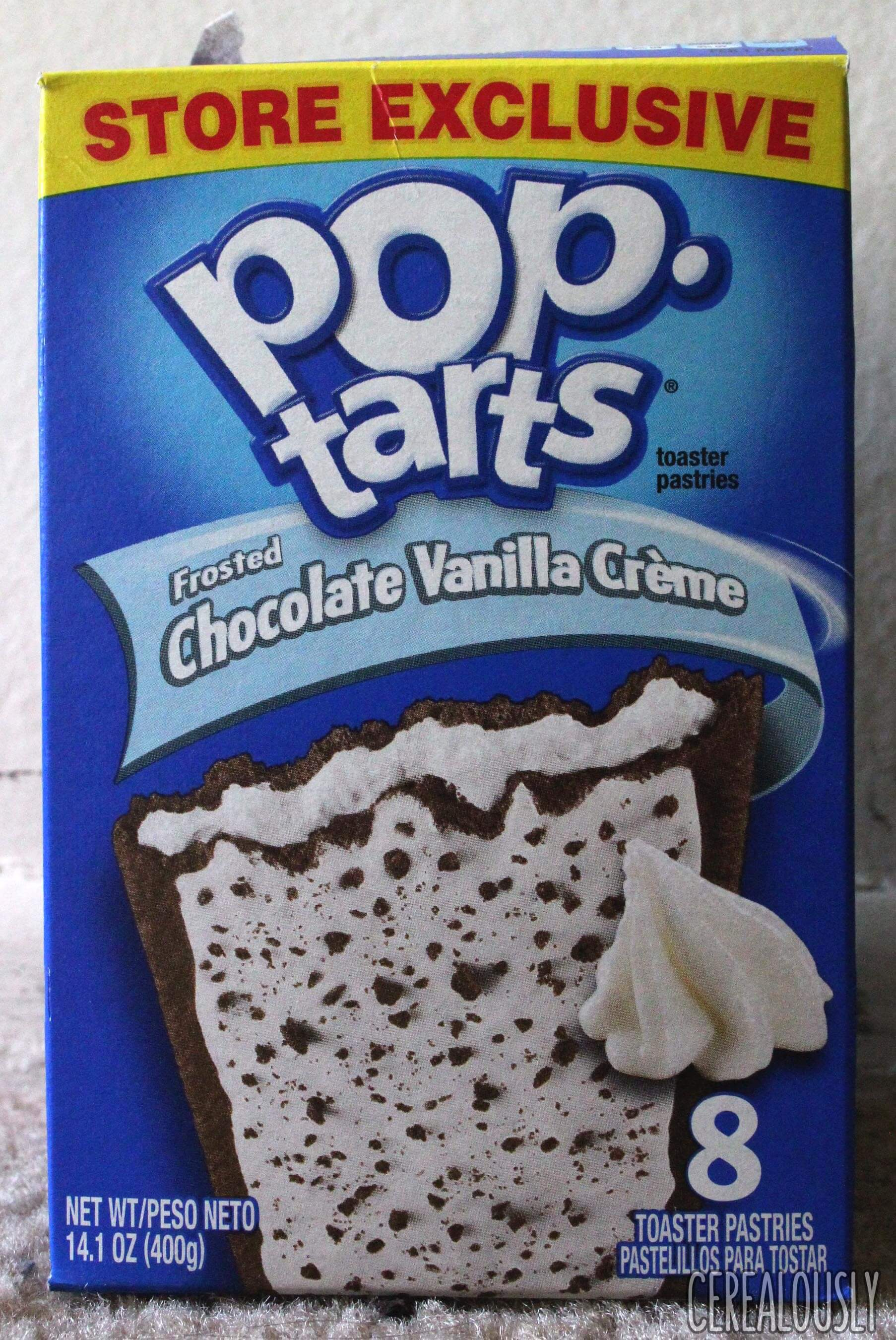 review kellogg�s frosted chocolate vanilla cr232me poptarts