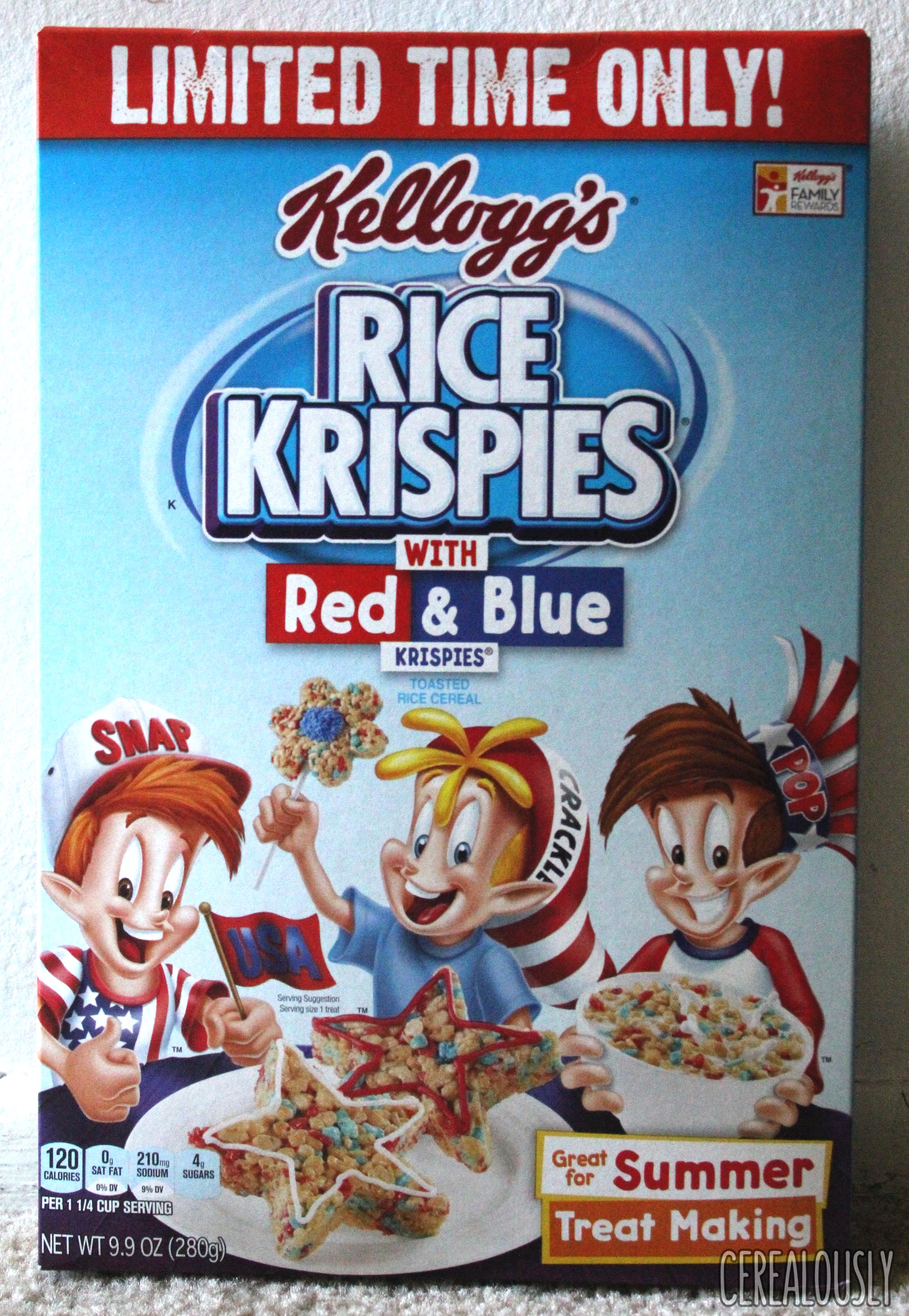 Review kelloggs rice krispies with red blue krispies cereal and review kelloggs rice krispies with red blue krispies cereal and happy fourth of july ccuart Gallery