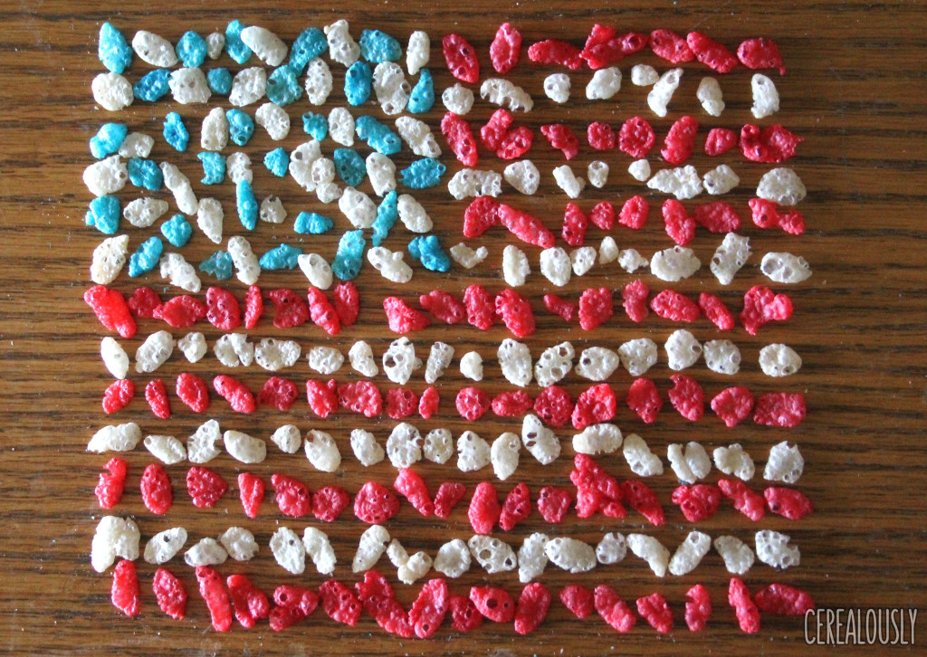 Red, White, & Blue Rice Krispies Flag