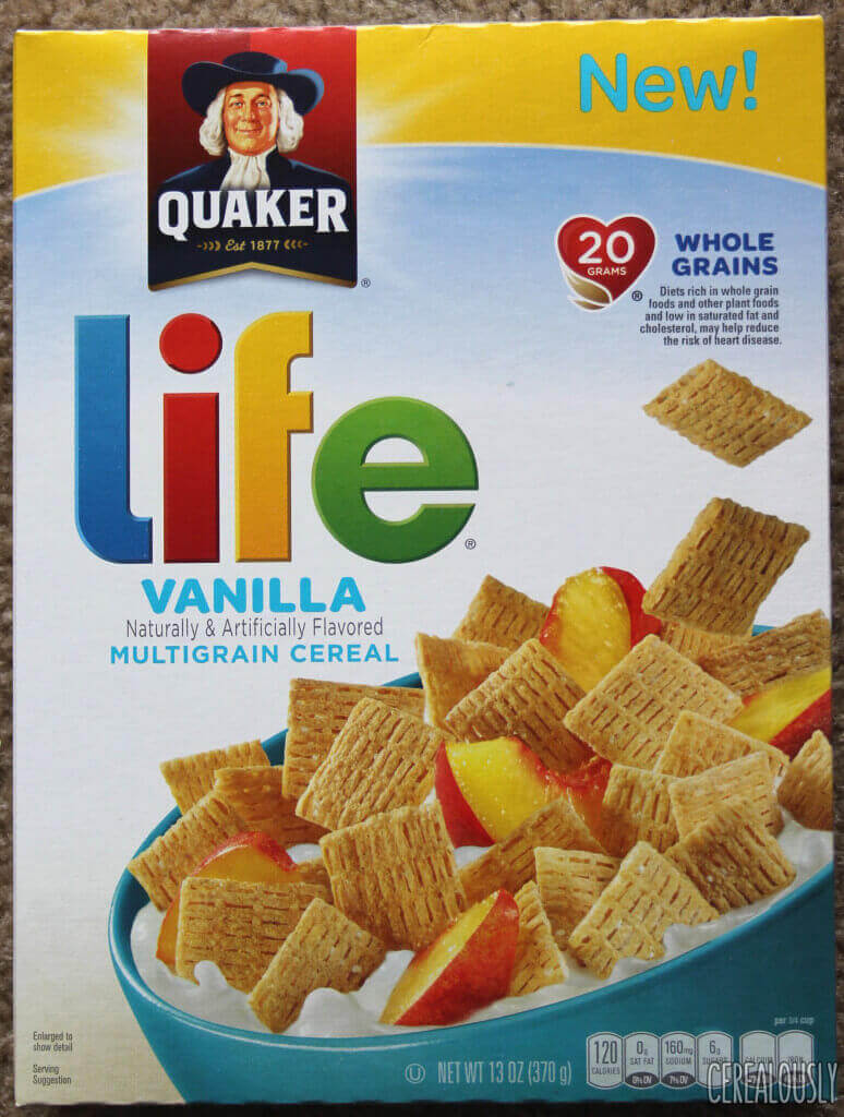 Quaker Vanilla Life Cereal Box