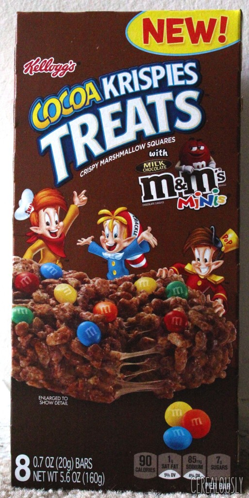 Cocoa Krispies Treats with M&M's Minis Box