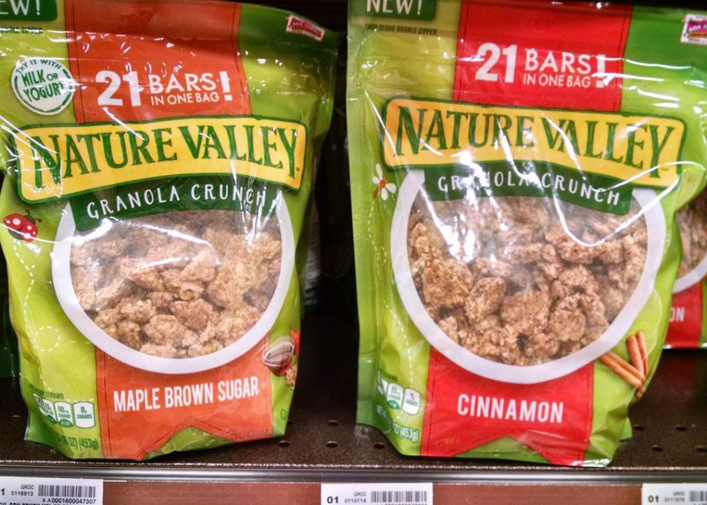 Nature Valley Maple Brown Sugar Granola Crunch and Nature Valley Cinnamon Granola Crunch