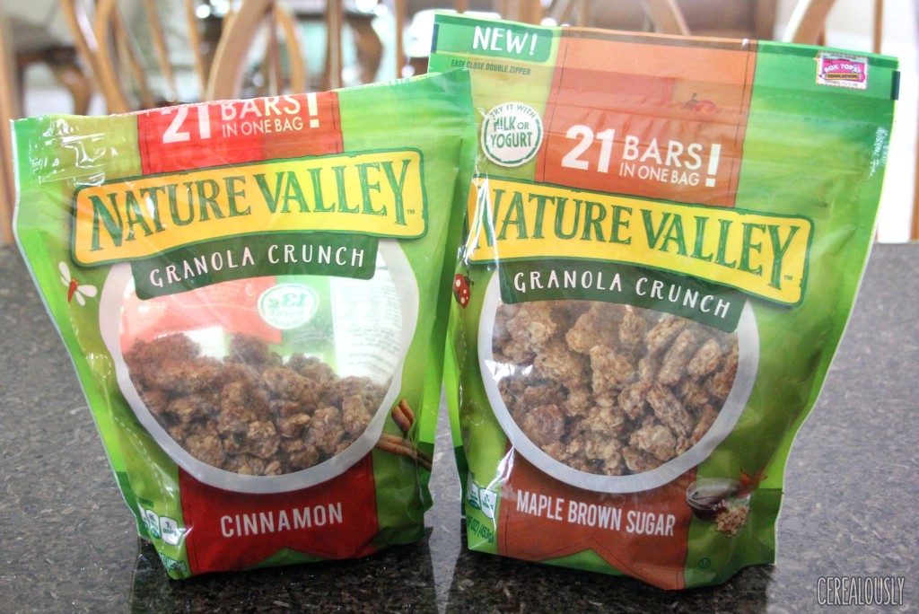 Nature Valley Granola Crunch Cinnamon and Maple Brown Sugar Bags