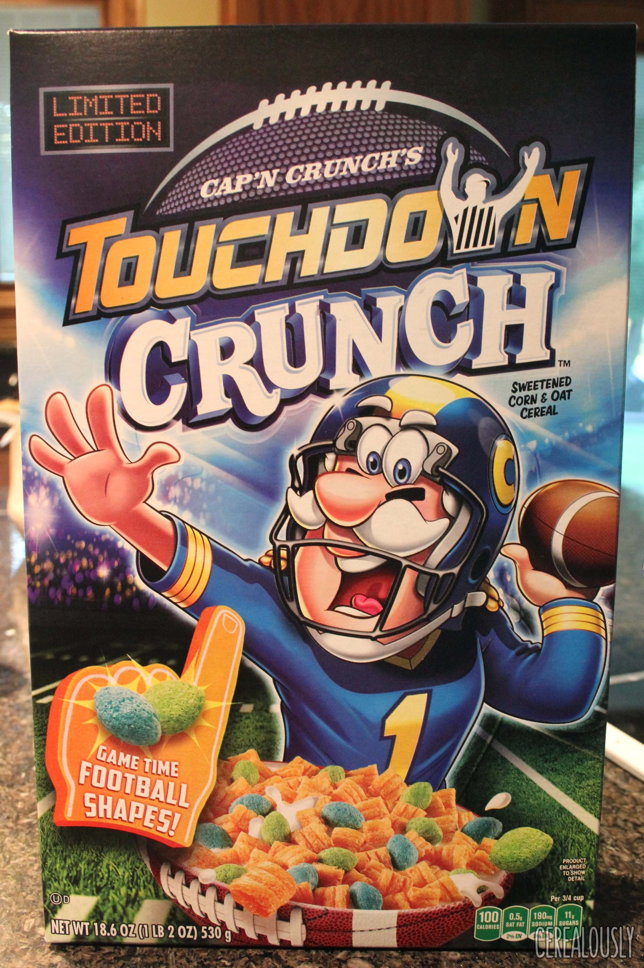 capn crunchs touchdown crunch cereal box - Captain Crunch Halloween