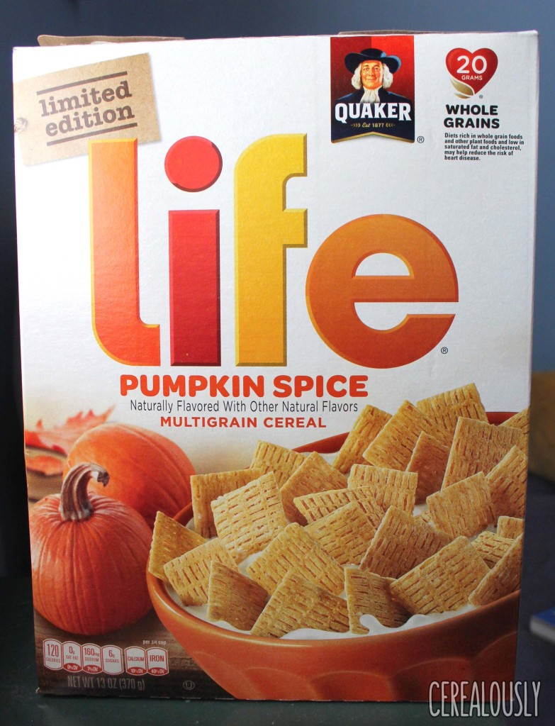 Limited Edition Pumpkin Spice Life Cereal Box