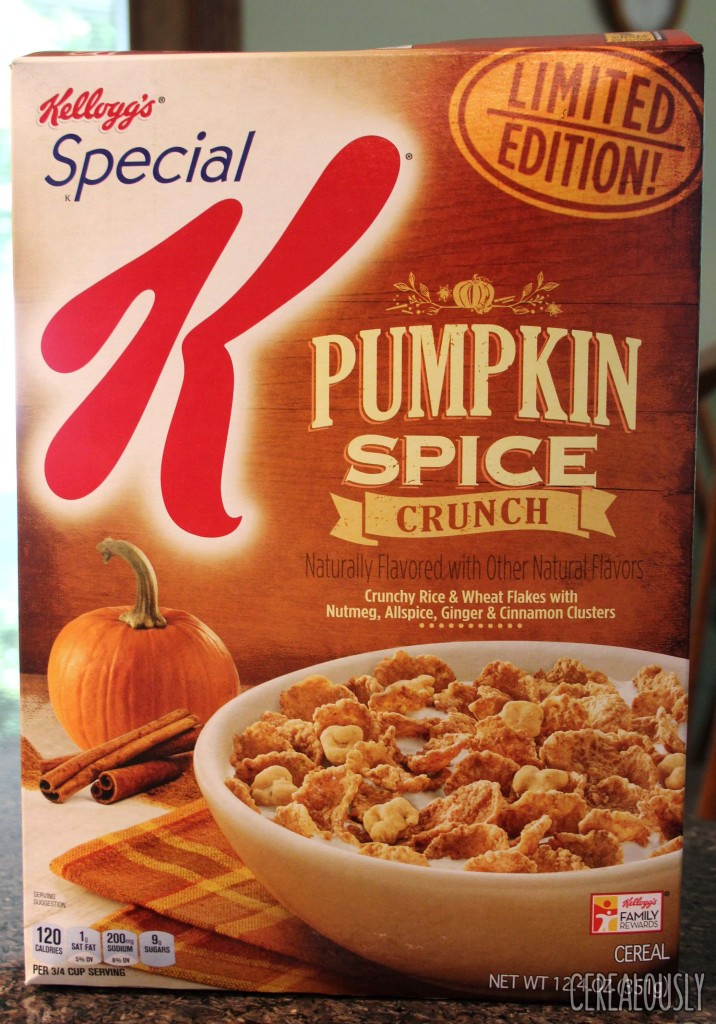 Limited Edition Special K Pumpkin Spice Crunch Cereal Box