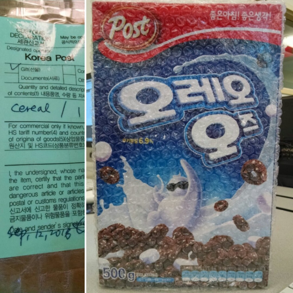 Oreo O's Shipment from South Korea