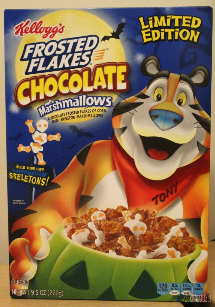 Halloween Chocolate Frosted Flakes with Skeleton Marshmallows Box