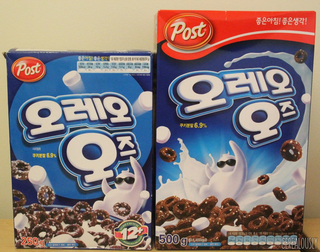 South Korean Oreo O's Cereal Boxes Compared