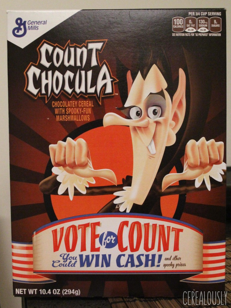 Count Chocula Monster Cereal 2016 Box