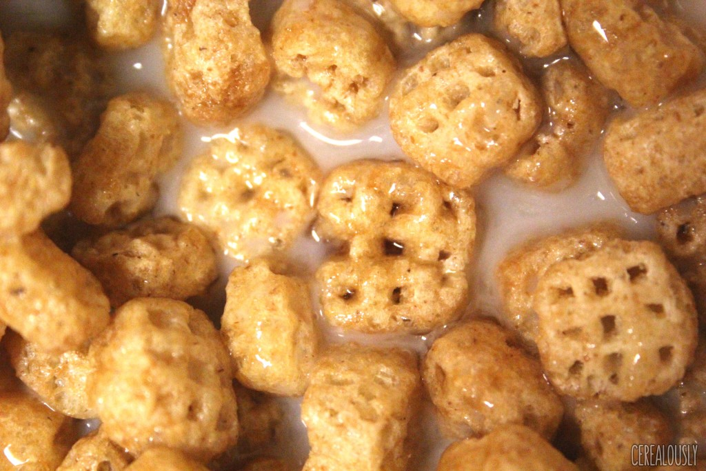 Post Waffle Crisp Cereal with Milk and Maple Syrup
