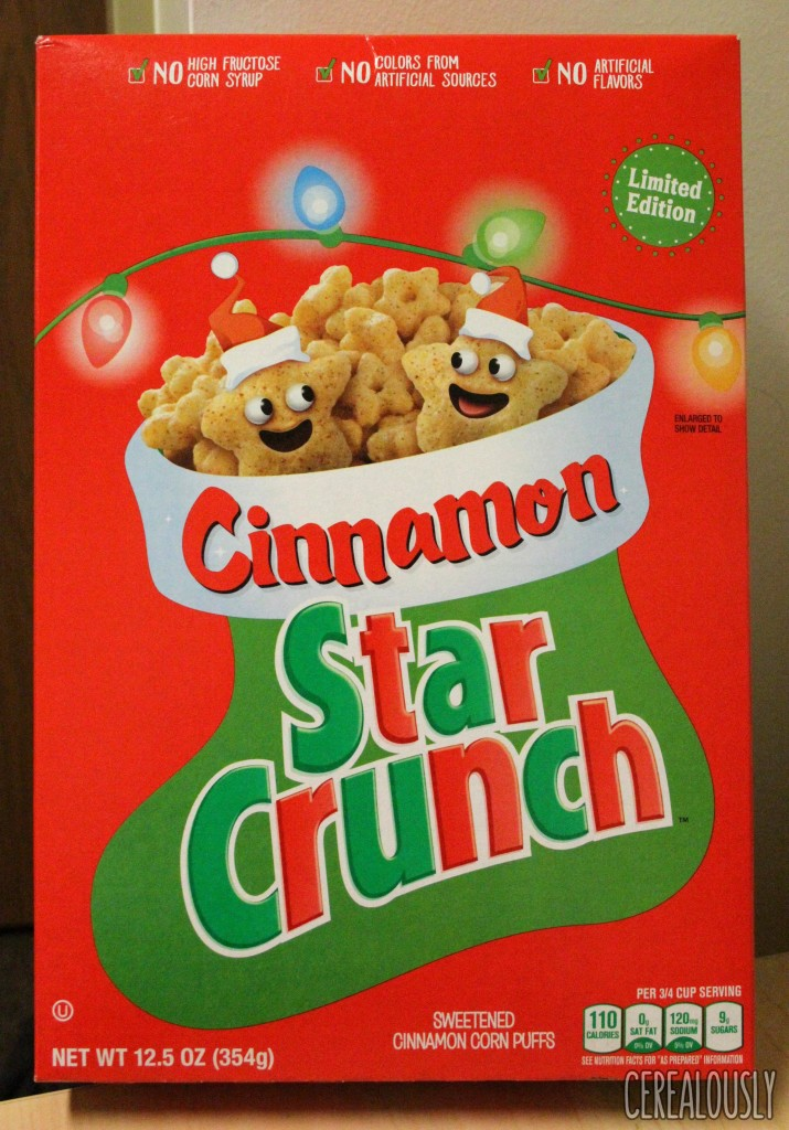 General Mills Cinnamon Star Crunch Cereal Holiday Box