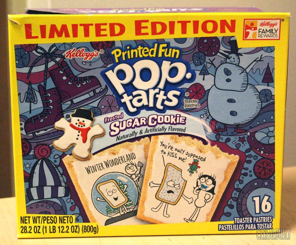 Kellogg's Printed Fun Frosted Sugar Cookie Pop-Tarts Box Review
