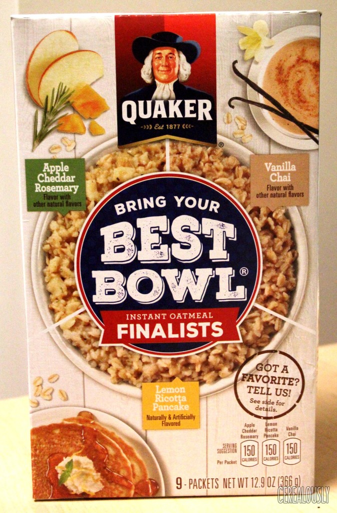 "Quaker ""Bring Your Best Bowl"" Oatmeal Box Review"