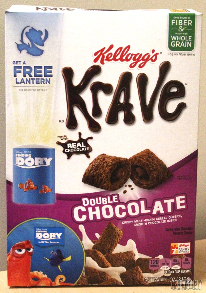 Kellogg's Double Chocolate Krave Cereal Review Box