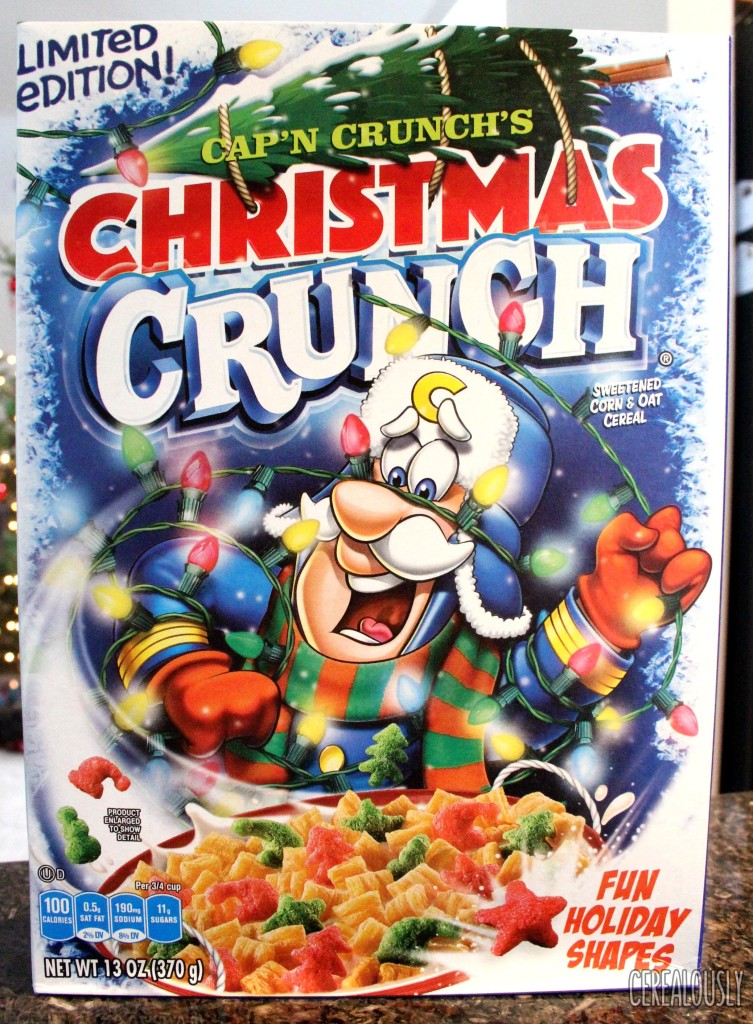Cap'n Crunch's Christmas crunch Cereal Box 2016 Review