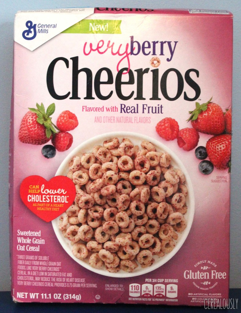 General Mills Very Berry Cheerios Box