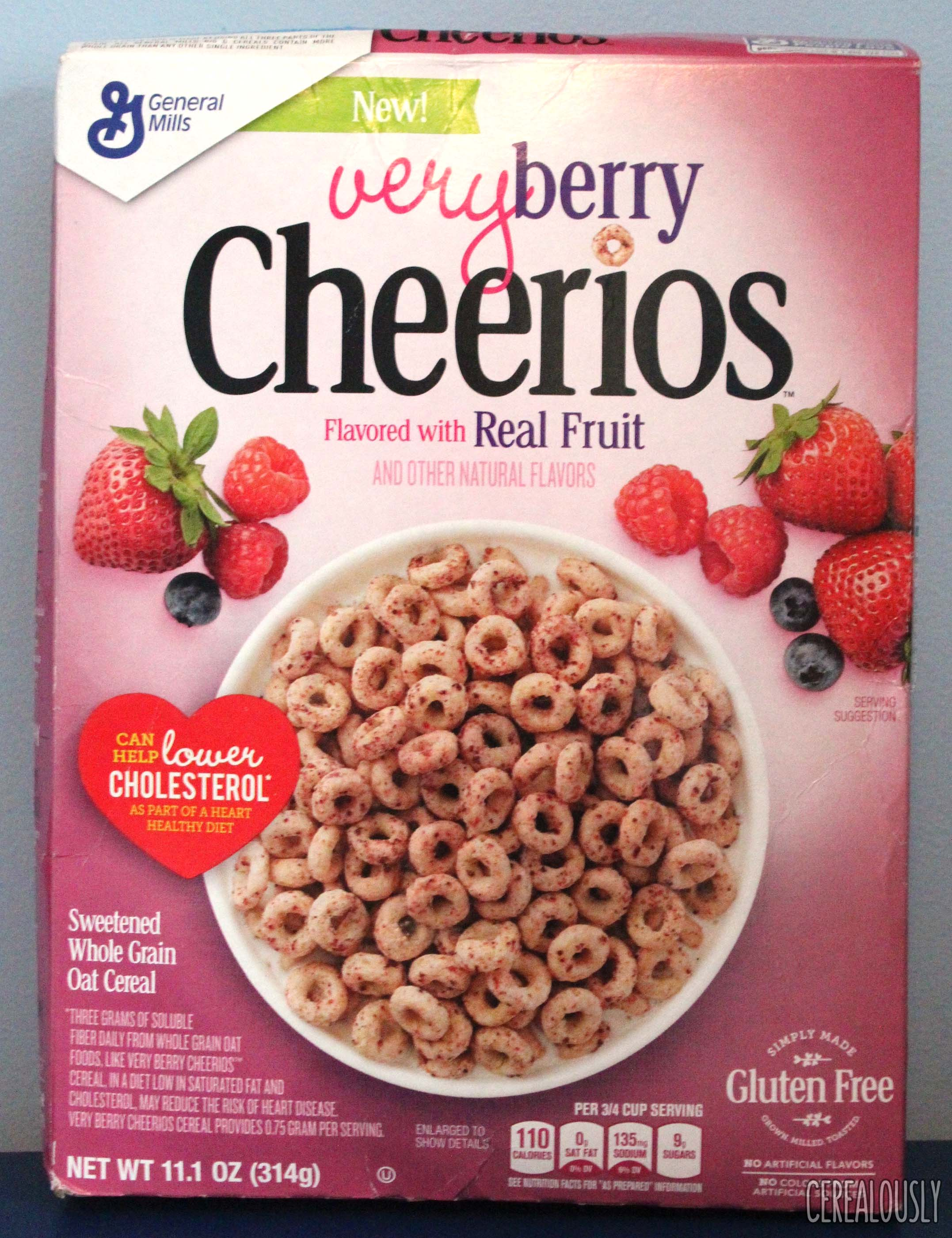 review: very berry cheerios cereal flavored with real fruit