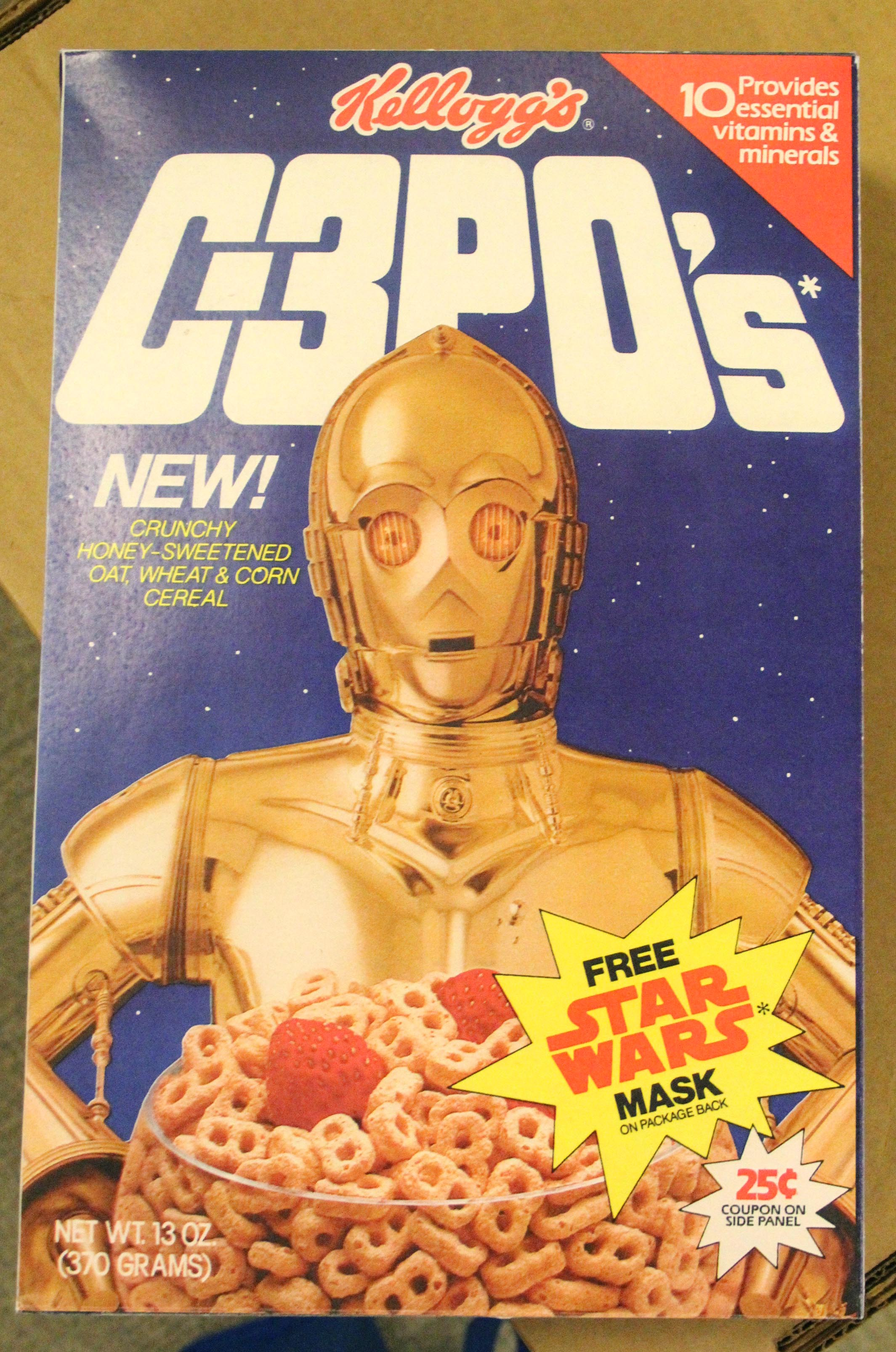 Kellogg's C3PO's Cereal Box from Star Wars