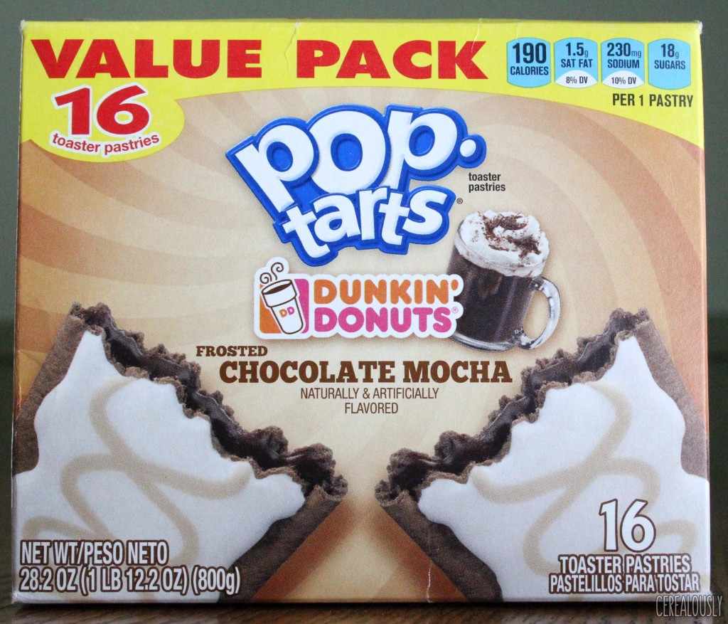Kellogg's Frosted Dunkin' Donuts Chocolate Mocha Pop-Tarts Box