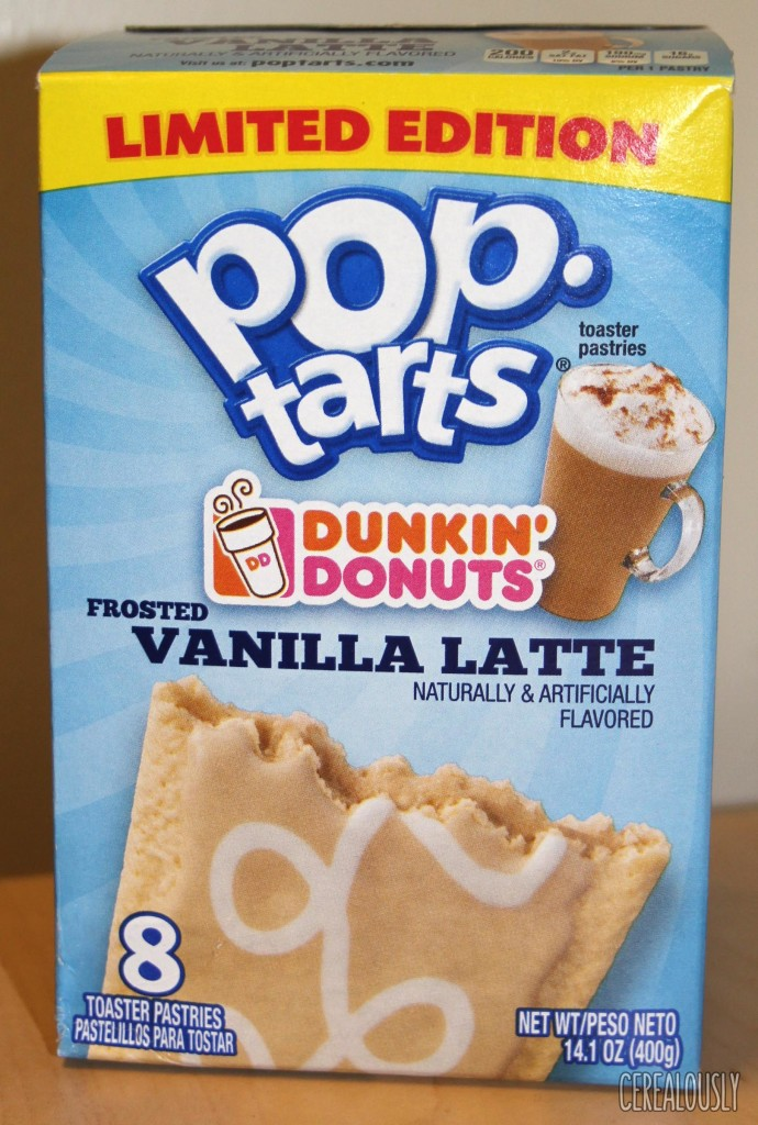 Kellogg's Limited Edition Frosted Dunkin' Donuts Vanilla Latte Pop-Tarts Review – Box