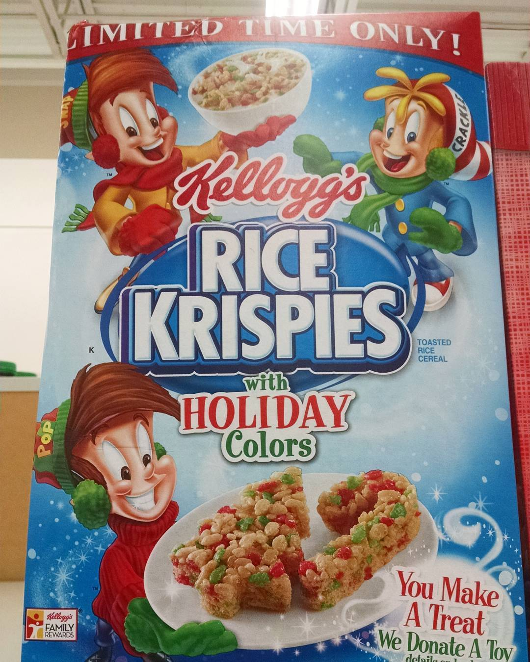 Holiday cerealously part 3 kelloggs rice krispies with holiday colors cereal box 2016 ccuart Image collections