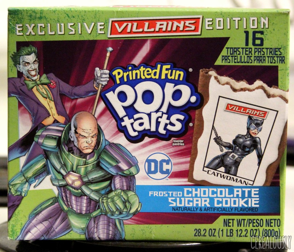 Kellogg's Frosted Chocolate Sugar Cookie Pop-Tarts (Printed Fun Villains Edition) Box