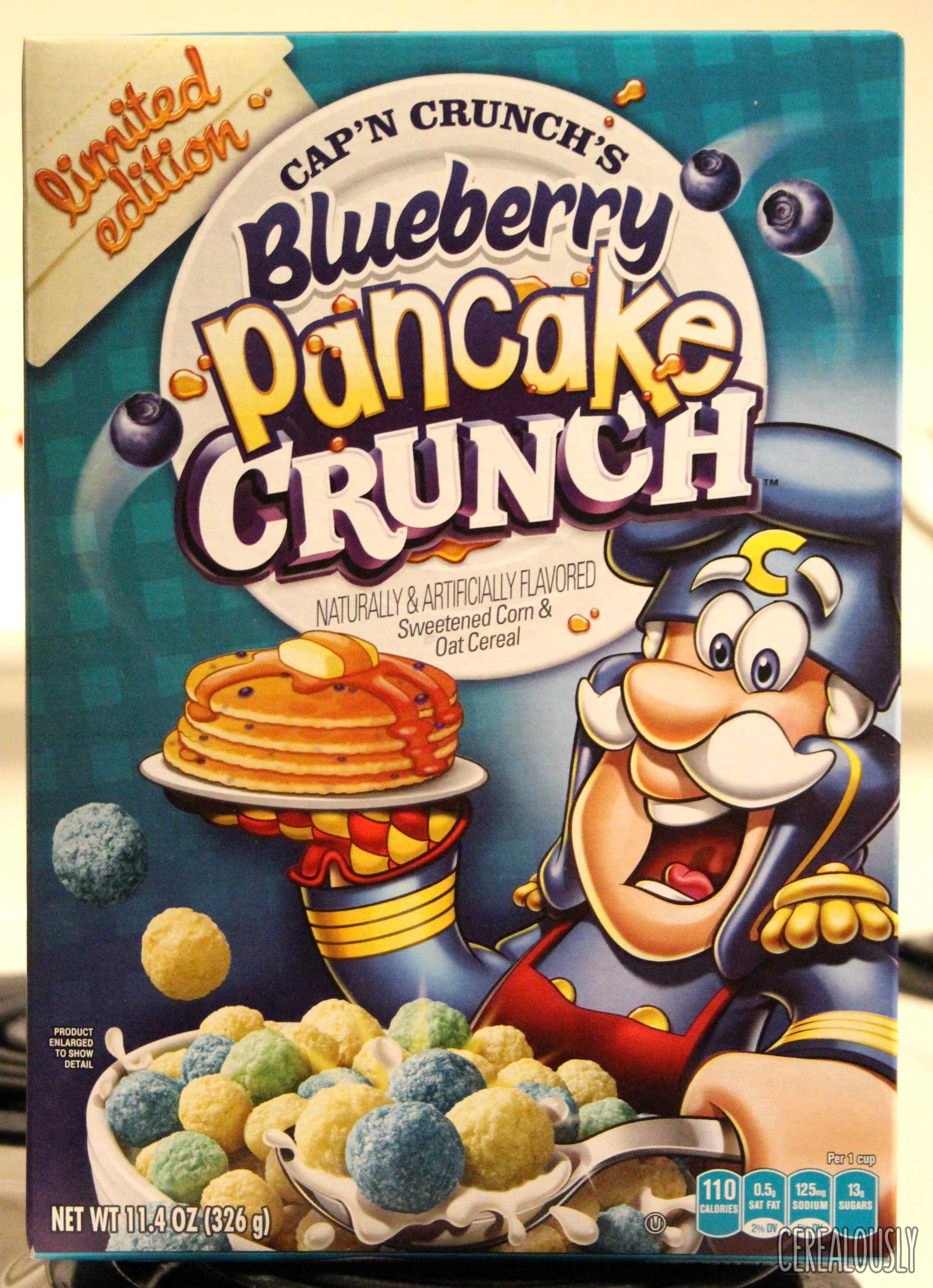 Quaker Cap'n Crunch's Blueberry Pancake Crunch Cereal Box Review