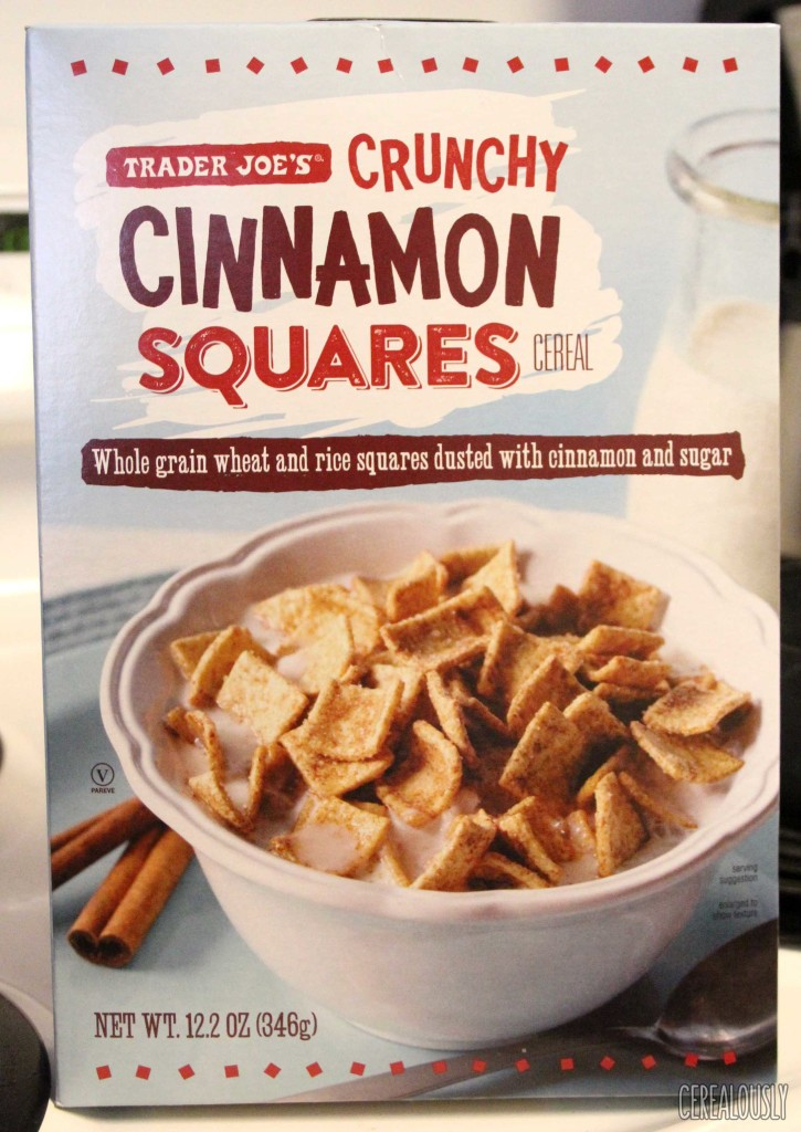 Trader Joe's Crunchy Cinnamon Squares Cereal Box