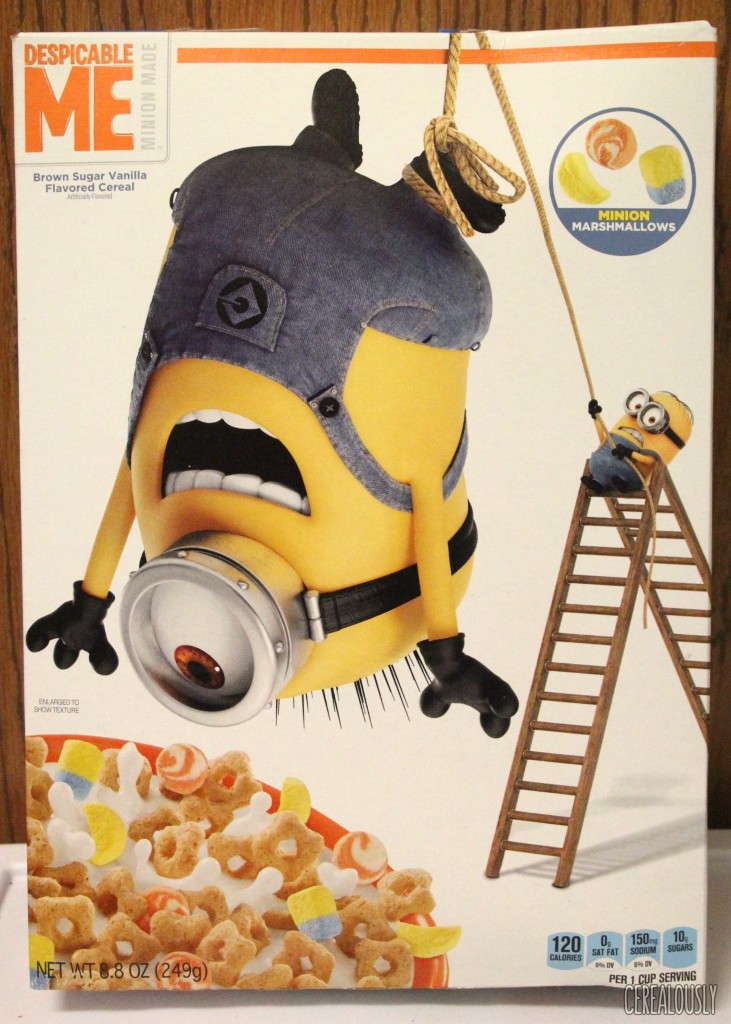 Kellogg's Despicable Me Cereal with Minion Marshmallows Box Review