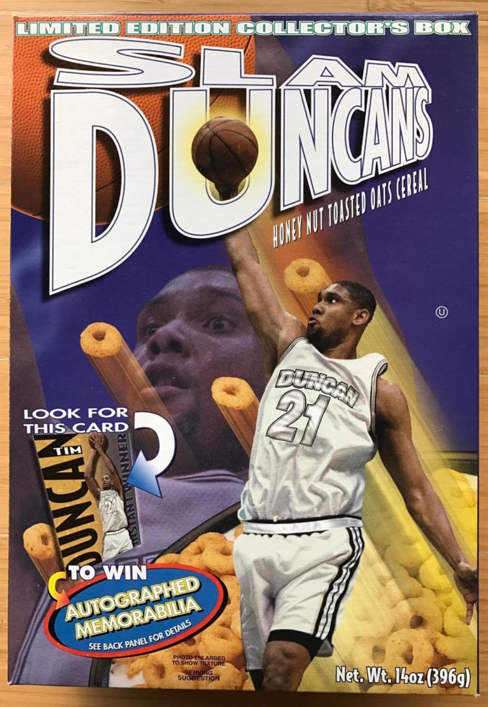 H-E-B Slam Duncans Cereal 2001 Box