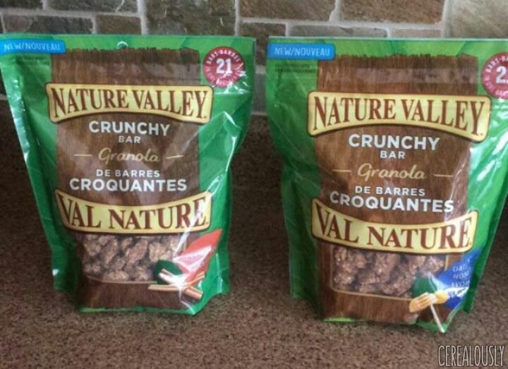 Nature Valley Canadian Crunchy Bar Granola in Cinnamon and Oats & Honey