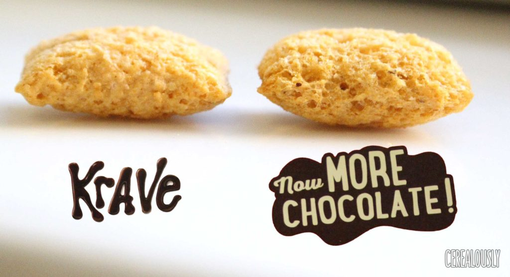 Kellogg's Krave Cereal Now with More Chocolate Comparison
