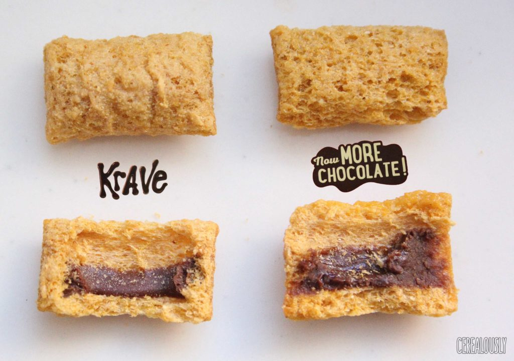 Kellogg's Krave Cereal Now with More Chocolate Side-By-Side