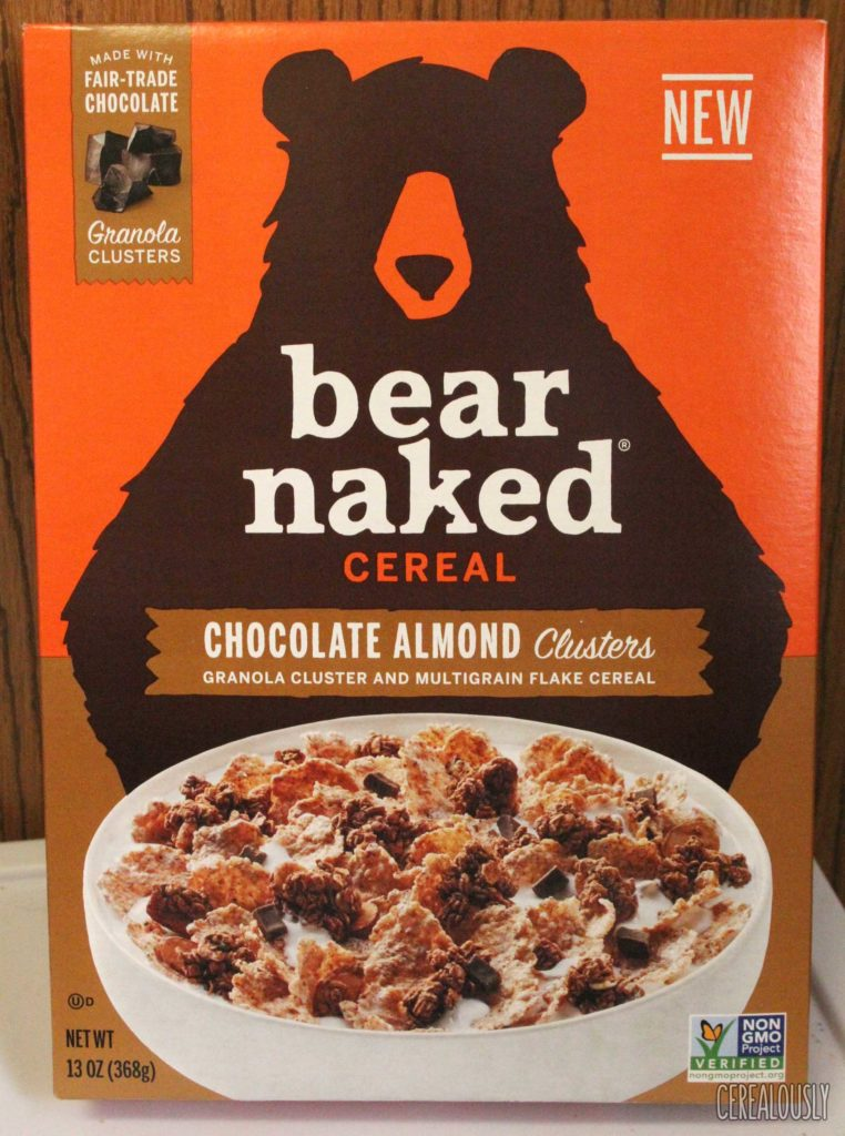 Bear Naked Chocolate Almond Clusters Cereal Box