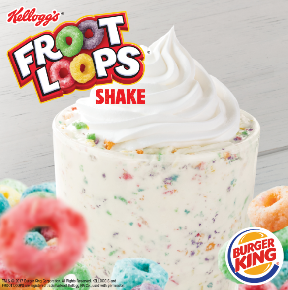 Burger King Froot Loops Shake