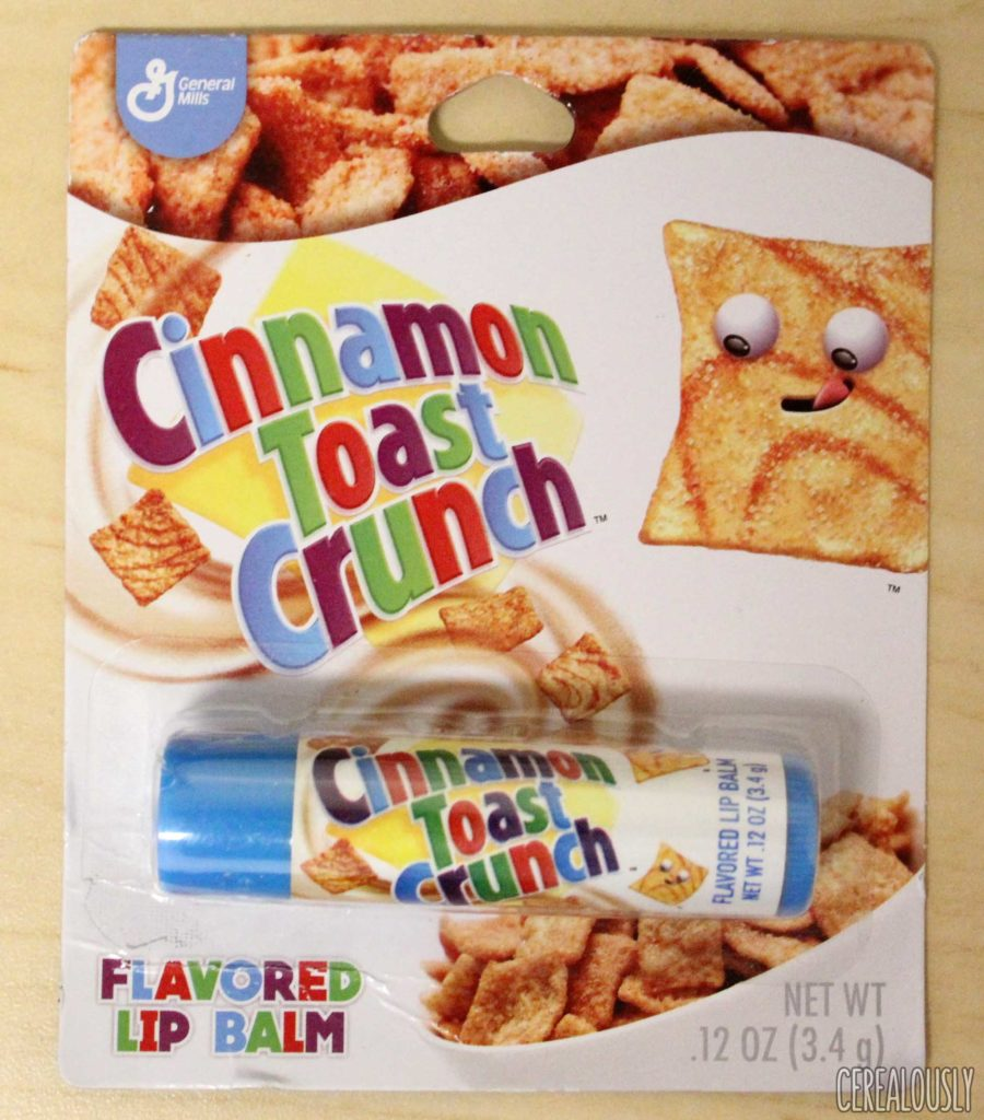General Mills Cinnamon Toast Crunch Lip Balm Chapstick Packaging
