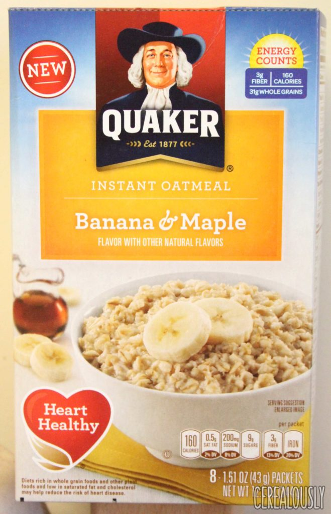 Quaker Banana & Maple Oatmeal Box