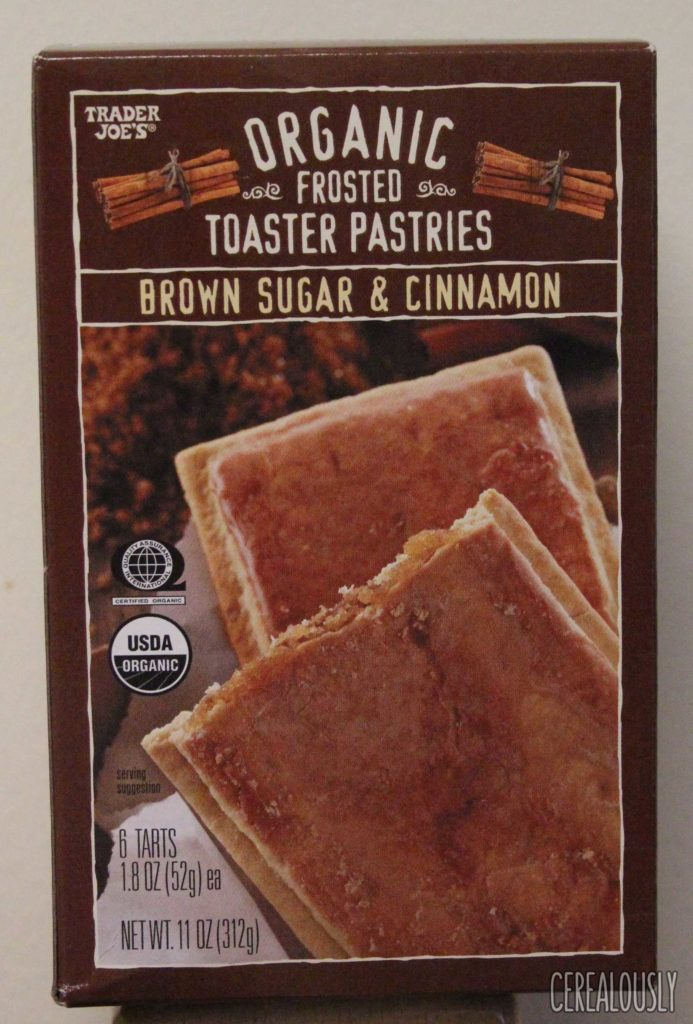 Trader Joe's Organic Frosted Brown Sugar & Cinnamon Toaster Pastries Box