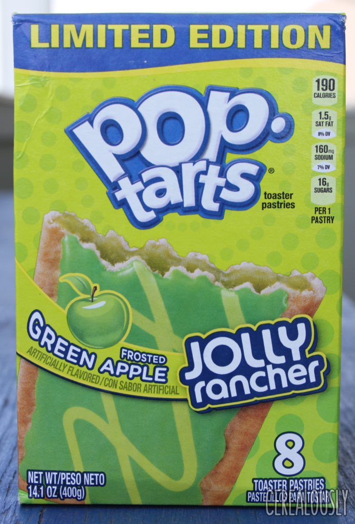 Kellogg's Frosted Sour Green Apple Jolly Rancher Pop-Tarts Review Box