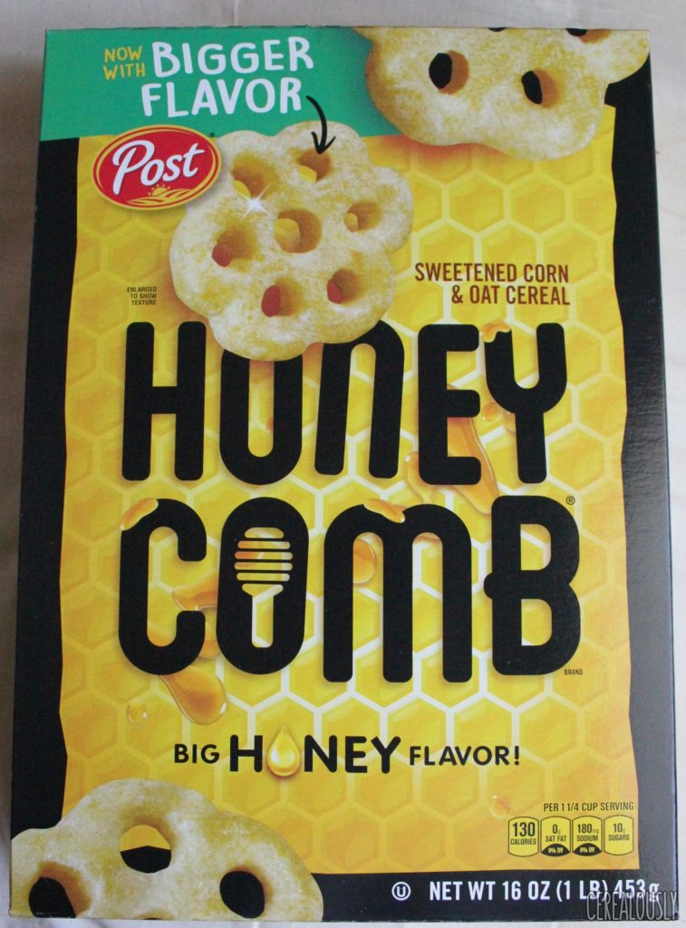 Post Bigger Flavor Honeycomb Cereal Box
