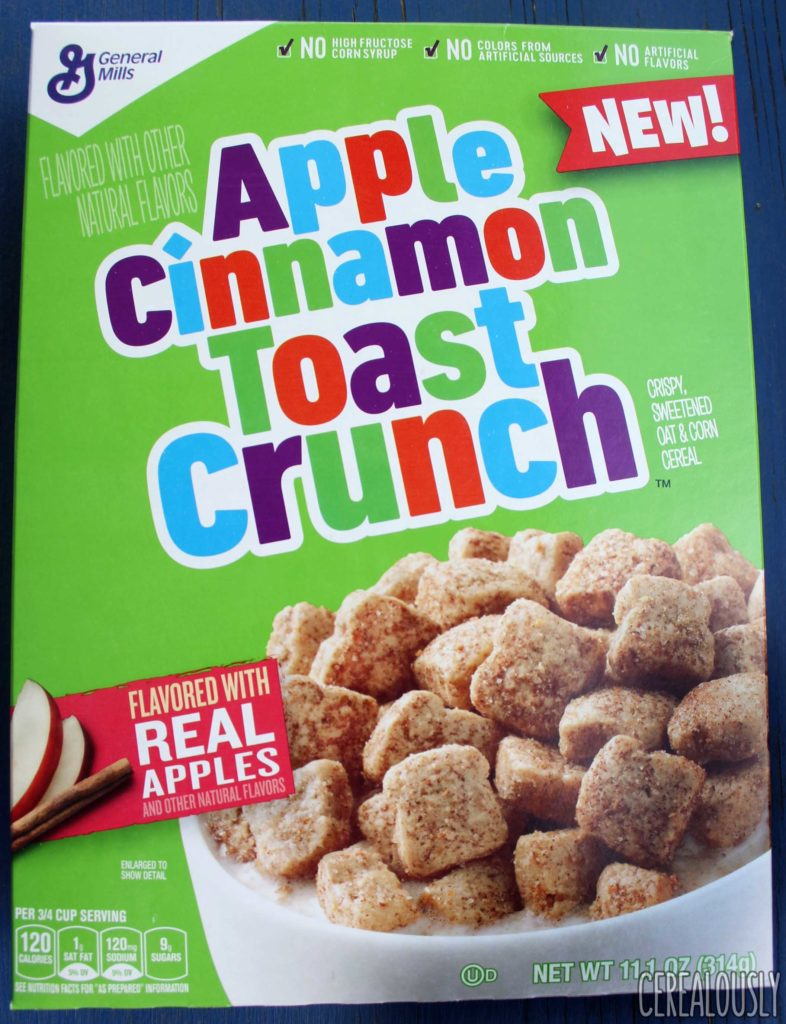 General Mills Apple Cinnamon Toast Crunch Cereal Review Box