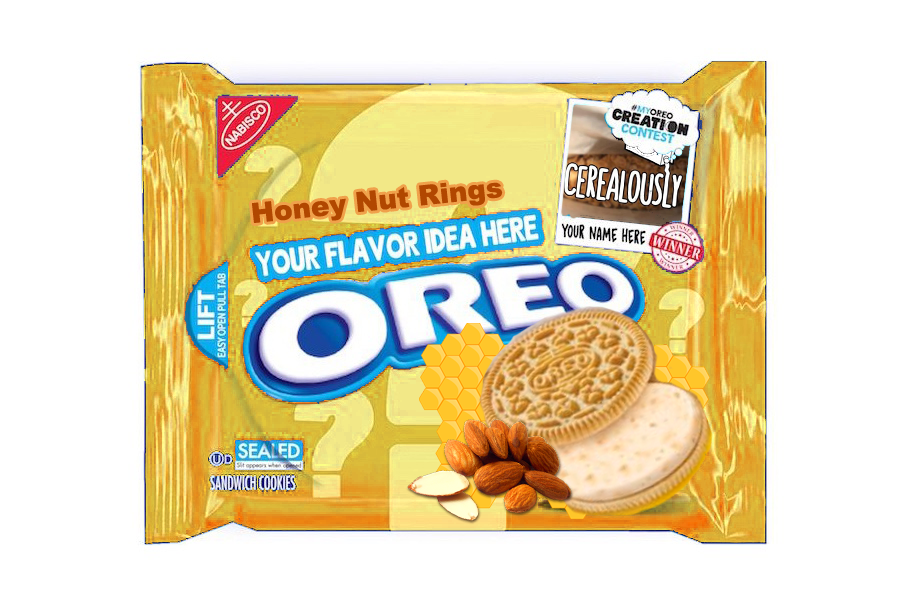 Fake Honey Nut Oreo Cookies
