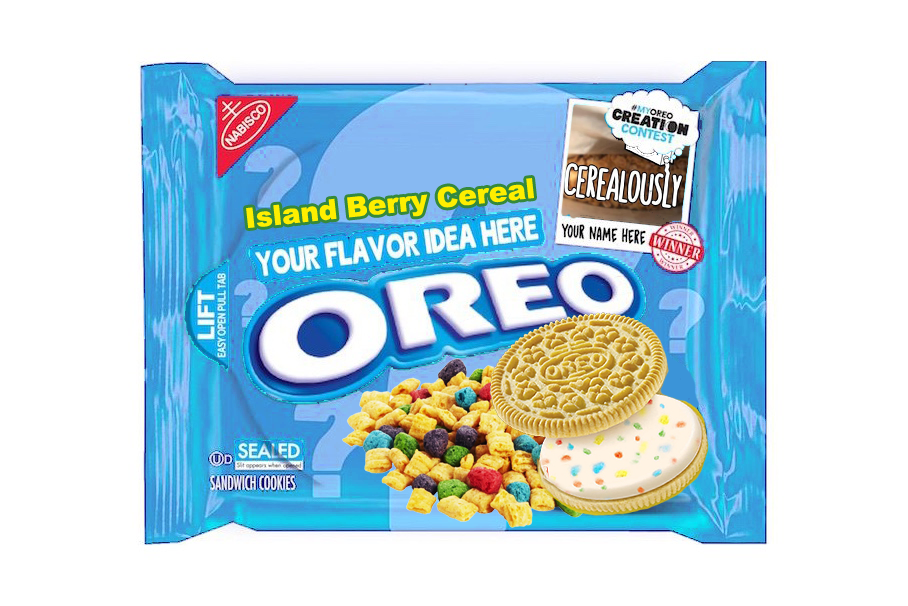 Fake Island Berry Cereal Oreo Cookies