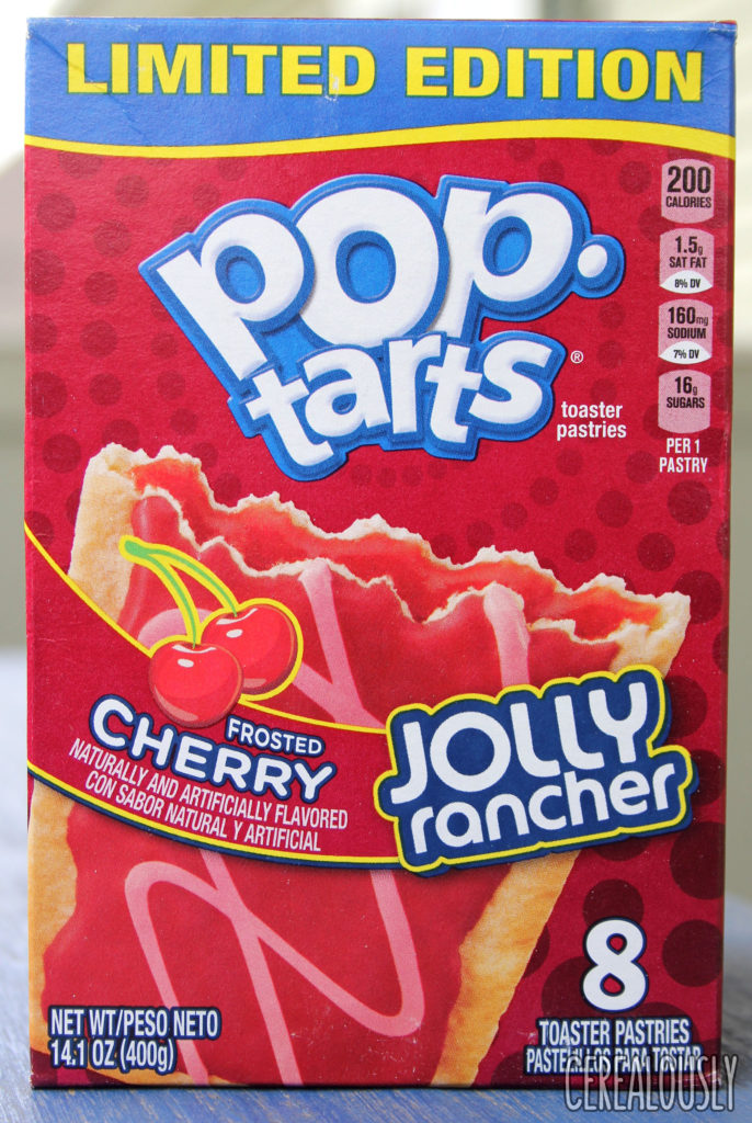 Kellogg's Frosted Cherry Jolly Rancher Pop-Tart Review Box