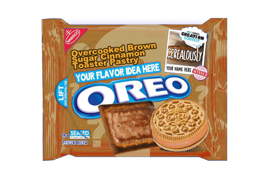 Fake Brown Sugar Cinnamon Pop-Tart Oreo Cookies